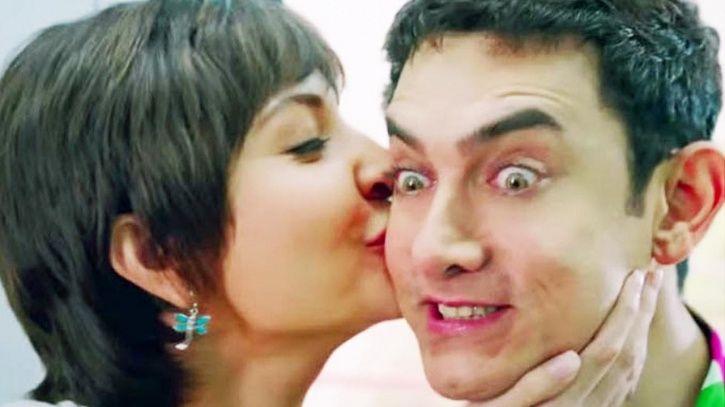 Aamir Khan and Anushka Sharma in PK.