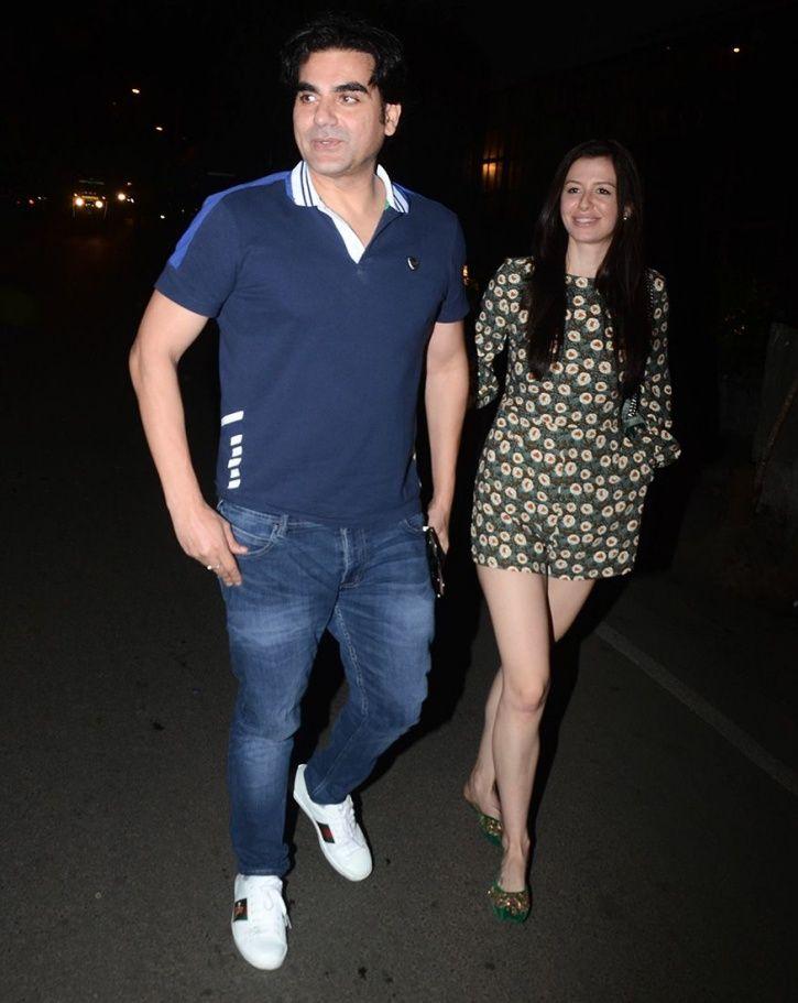 Arabaaz Khan with his girlfriend.
