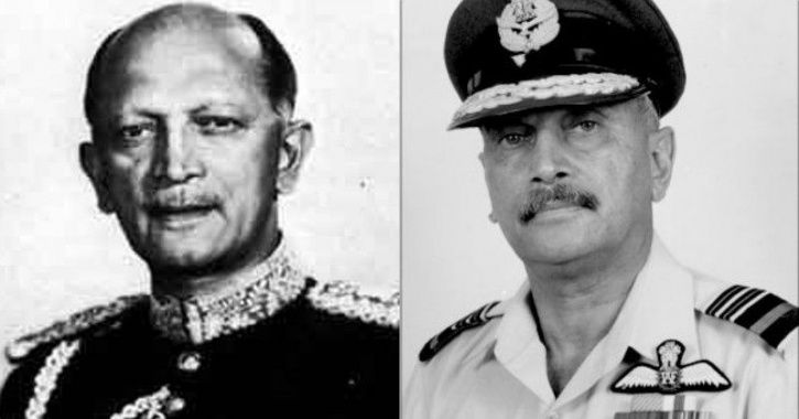 Field Marshal KM Cariappa and Air Marshal KC Cariappa