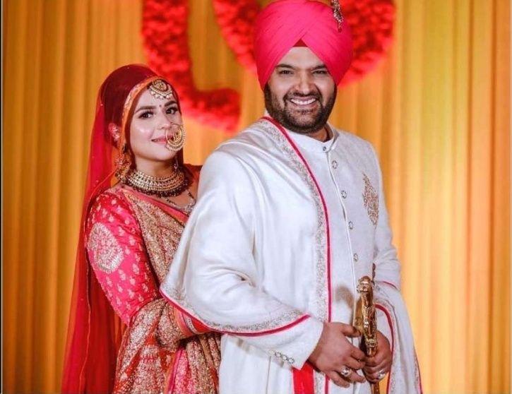 Kapil Sharma with wife Ginni.