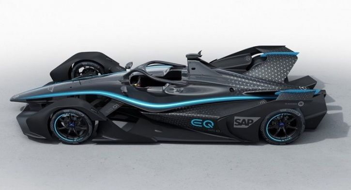 Mercedes-Benz EQ Silver Arrow 01, Mercedes-Benz Electric Race Car, Mercedes-Benz Formula-E Debut, Me
