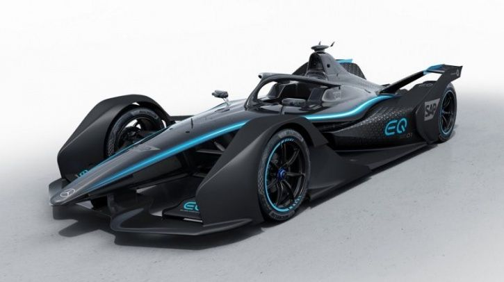 Mercedes-Benz EQ Silver Arrow 01, Mercedes-Benz Electric Race Car, Mercedes-Benz Formula-E Debut, Me