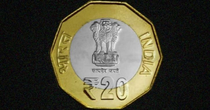 new 20 rupees coin