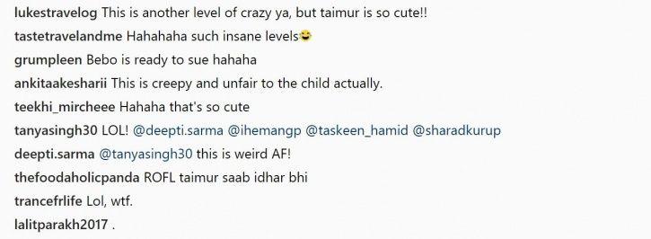 People react to Taimur cookies.