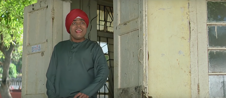 Representation of Sikhs in Bollywood: Johny liver playing Sikh role in a film.