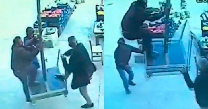 Turkish man blown away