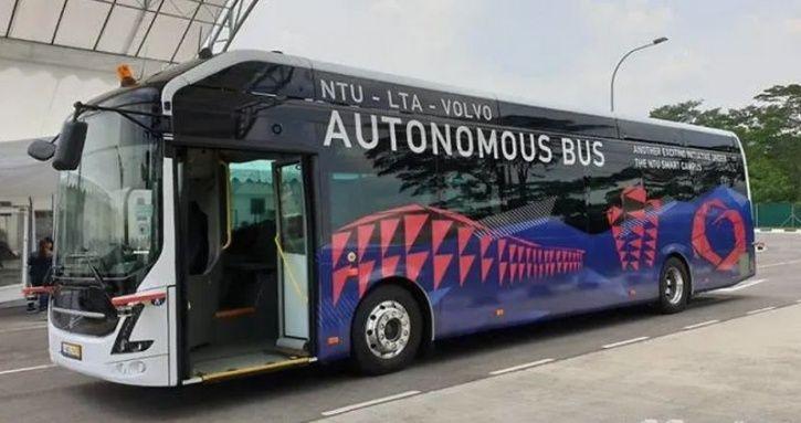 Volvo Autonomous Electric Bus, Worlds First Autonomous Electric Bus, Electric Self Driving Bus, Volv