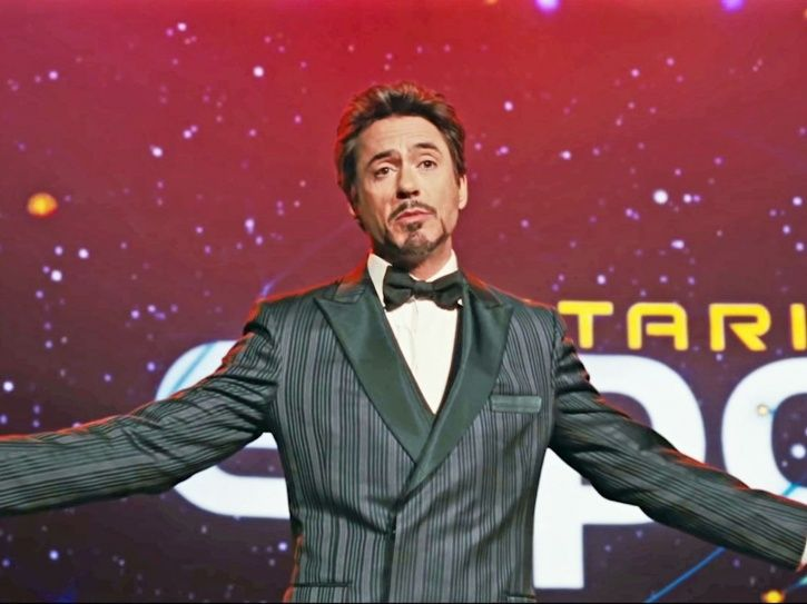 A picture of Robert Downey Jr from Avengers: Endgame.