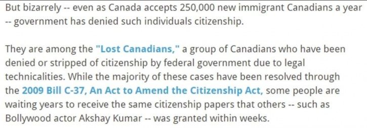Ajshay Kumar canadian citizenship.