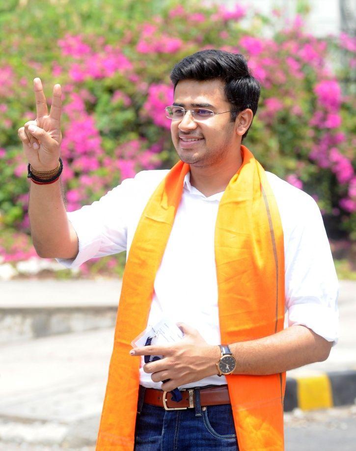BJP's MP-Elect from Bengaluru South Tejasvi Surya.