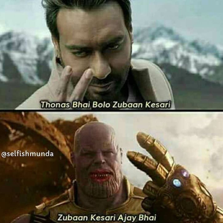 Bolo Zuban Kesari meme starring Ajay Devgn.