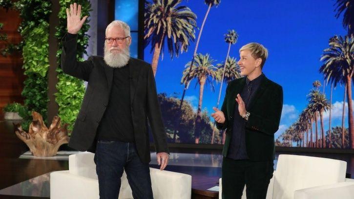 Ellen DeGeneres with david letterman.