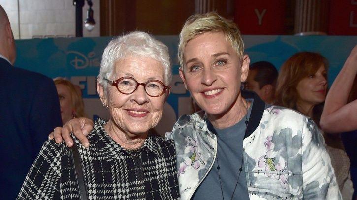 Ellen DeGeneres with her mother Betty.