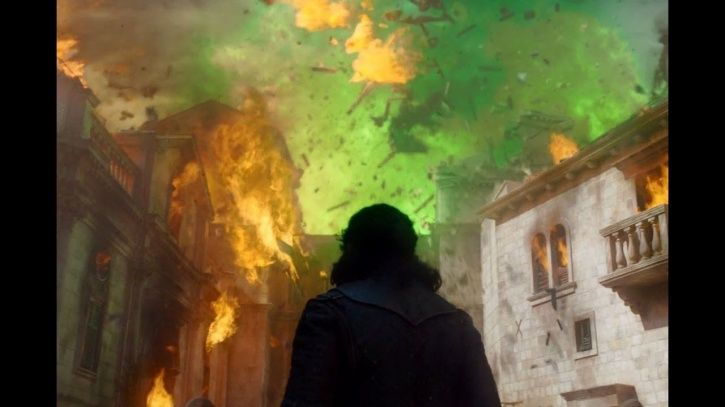 Game of Thrones season 8 episode 5: The green fire in the battle was wildfire!