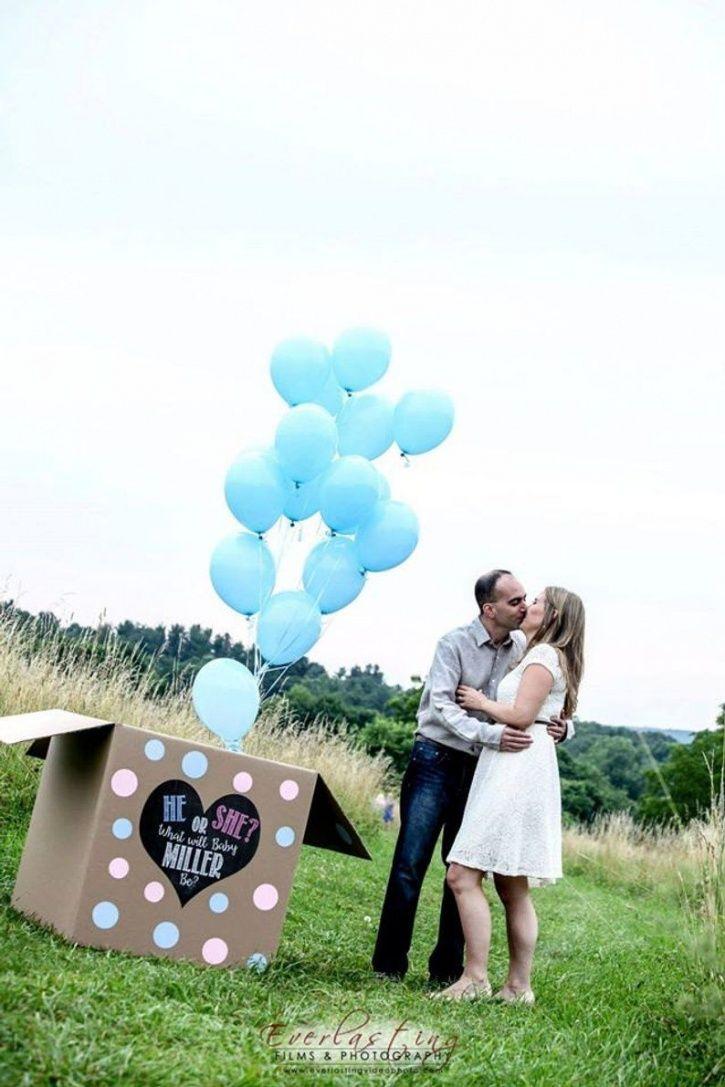 Gender reveal balloon box.