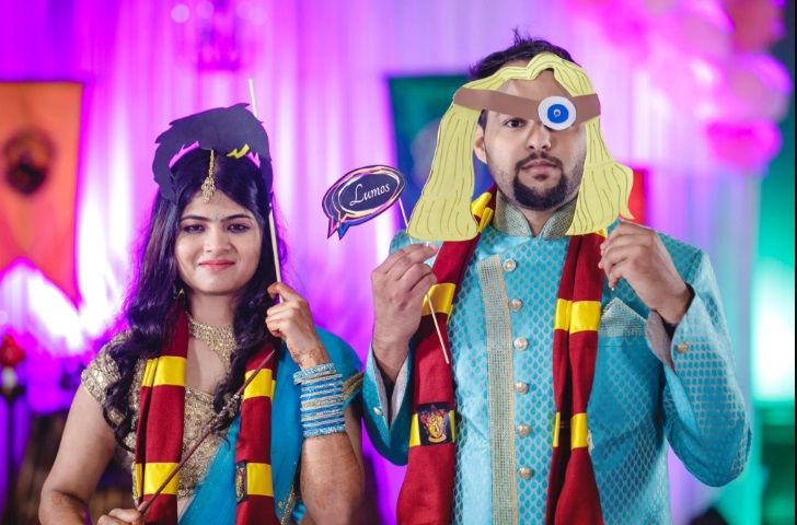 Harry Potter sangeet of Indian couple.