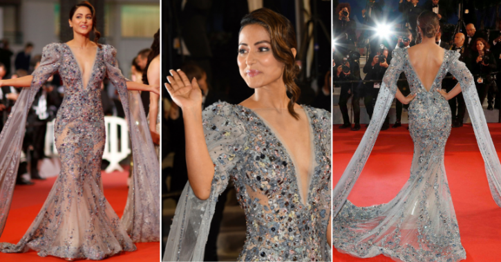 Hina Khan makes her debut at the Cannes Film Festival 2019.
