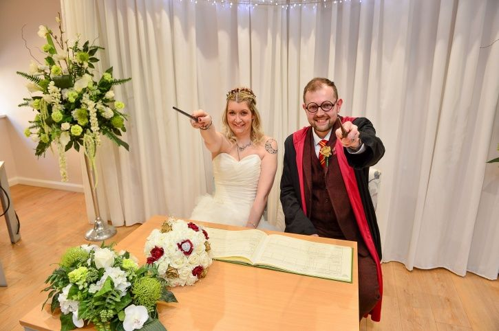 Hogwarts themed wedding.
