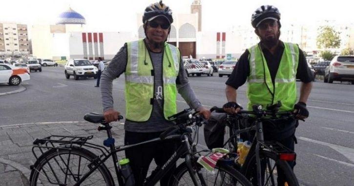 Indian Cycling Duo, Cycling Adventure Tour, Haj Yatra 2019, Ramadan 2019, UAE Tour, UAE Cycling, UAE