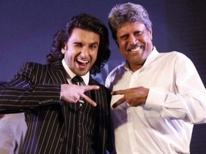 Kapil Dev and Ranveer Singh posing together in biopic 83.