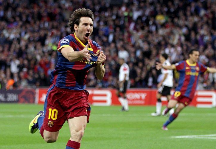 Lionel Messi helped Barcelona win 3-1