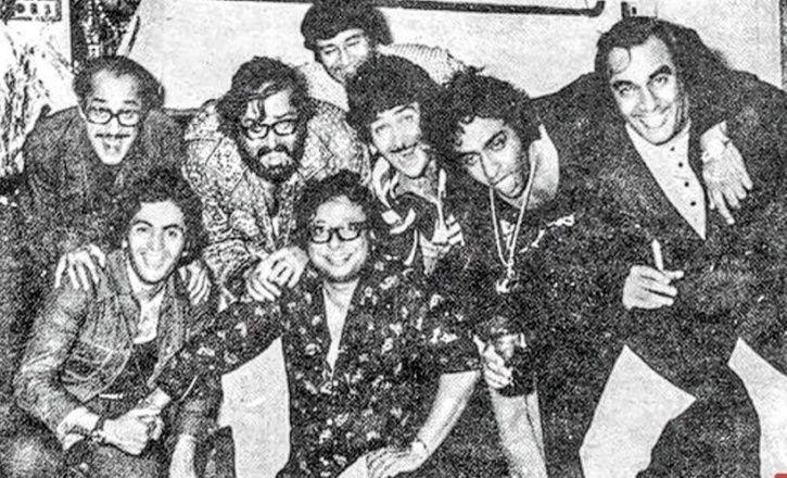 Nasir Hussain, Rishi Kapoor, Shammi Kapoor, Dev Anand, Randhir Kapoor, RD Burman, Ranjeet and Prem N