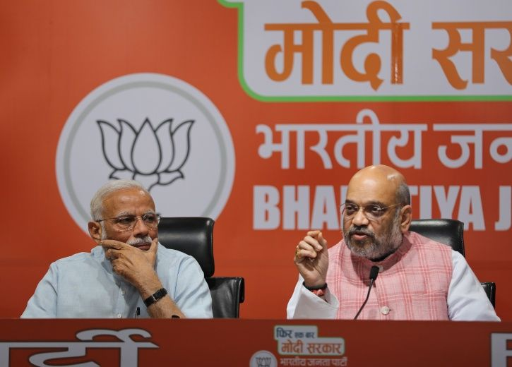 PM Modi At Amit Shah's First Press Conference In 1,828 Days, Didn't Take A Single Question