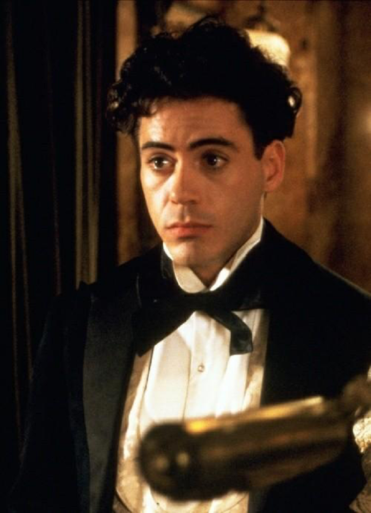 Robert Downey Jr in Oscar nominated movie Chaplin.