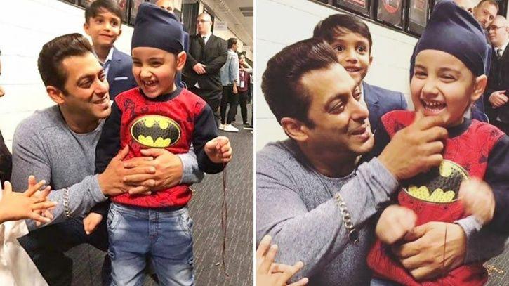 Salman Khan with kids.
