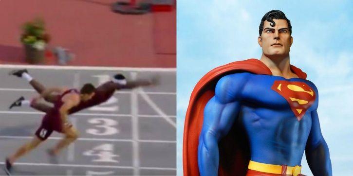 Superman on the track