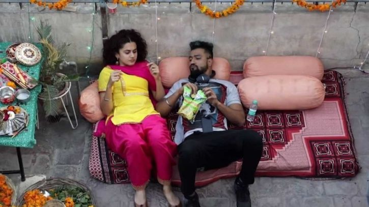Taapsee Pannu and Vicky Kaushal in Manmarziyaan.