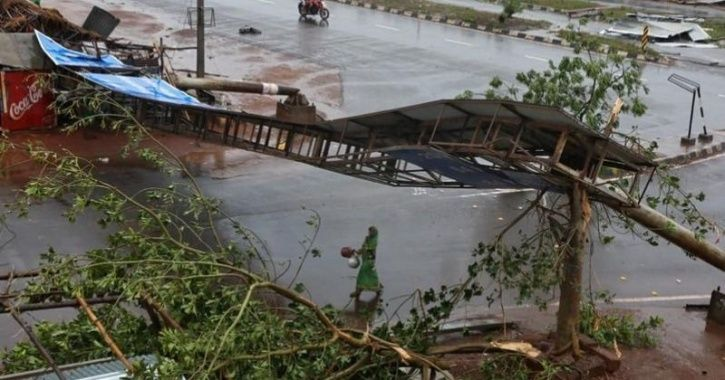 Th cyclone reportedly caused damages worth  Rs 12,000 crore.