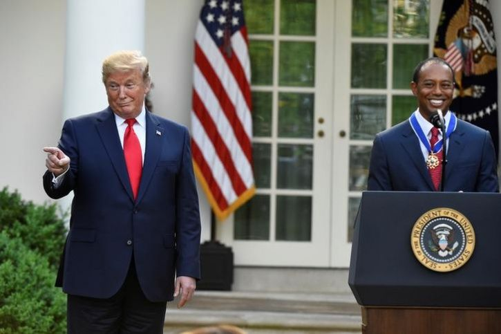 tiger woods received america highest civilian honour