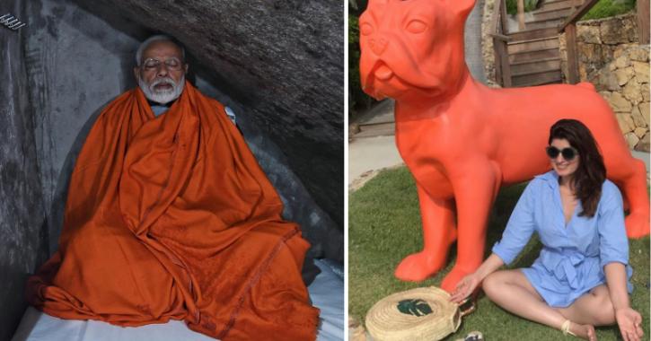Twinkle Khanna takes a dig at Prime Minister Narendra Modi's Kedarnath meditation pic in cave.