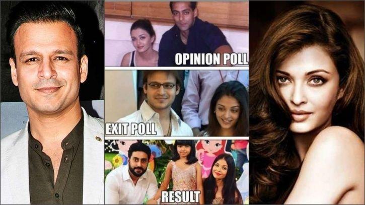 Vivek Oberoi-Aishwarya Rai meme.