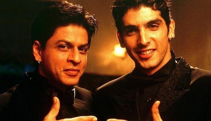 Zayed Khan and Shah Rukh Khan in Main Hoon Na,