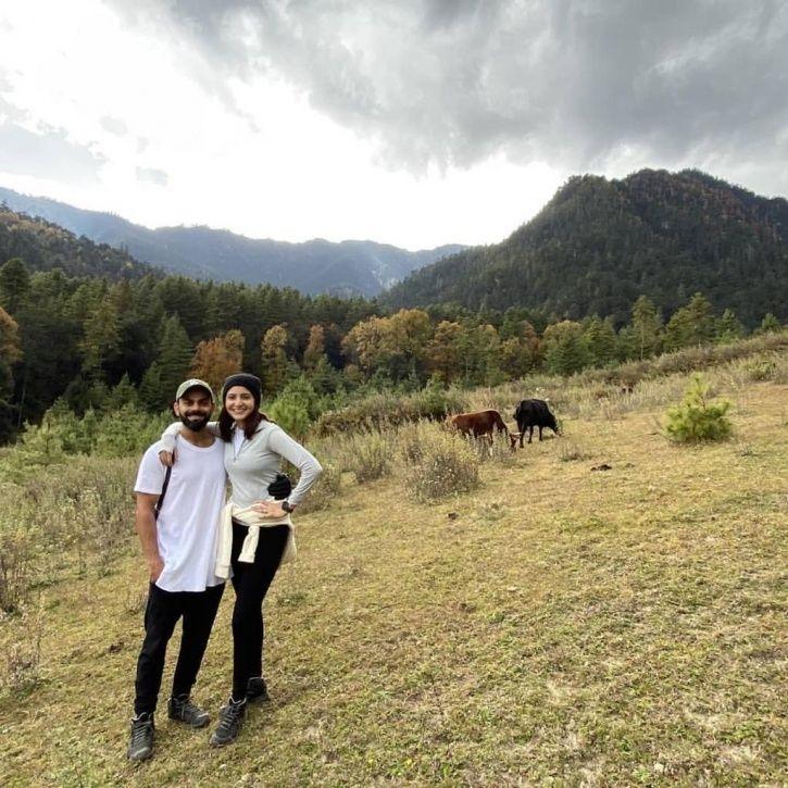 Anushka Sharma and Virat Kohli in Bhutan.