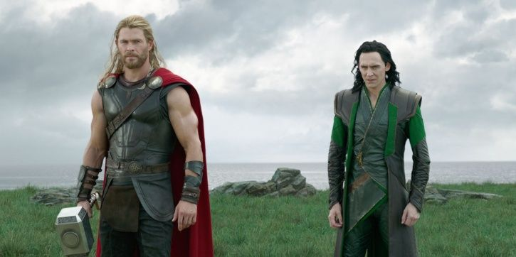 Chris Hemsworth aka Thor and Tom Hiddleston aka Loki.