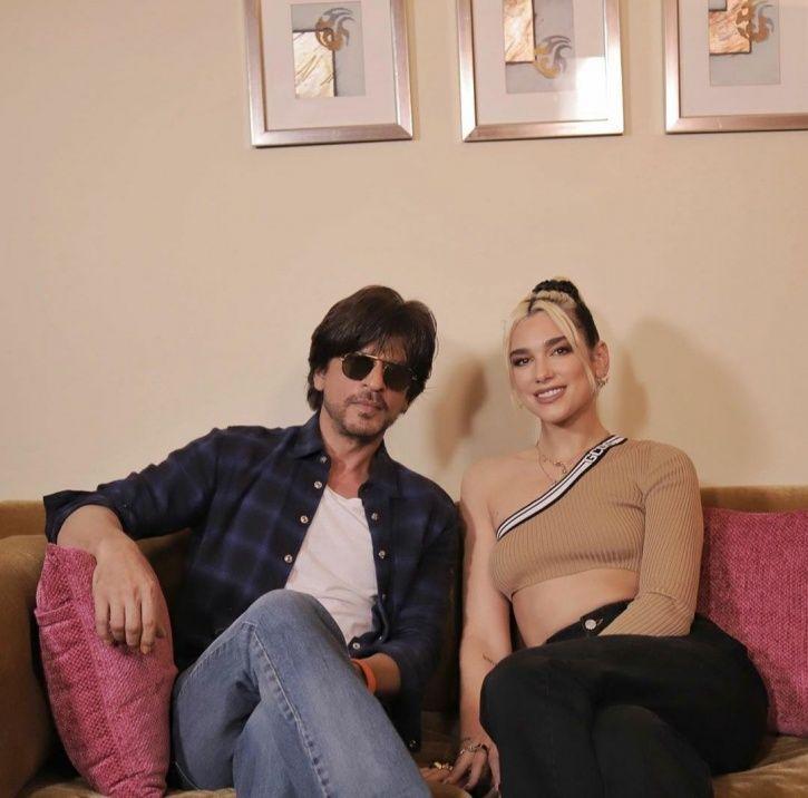 Dua Lipa meets Shah Rukh Khan.