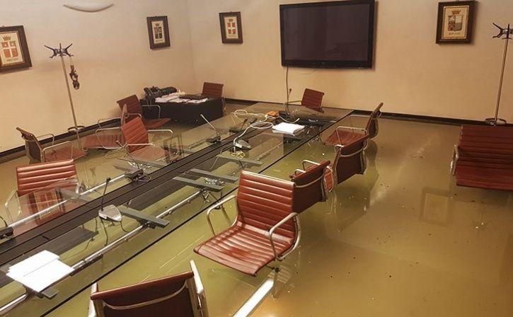 Italian Council Gets Flooded