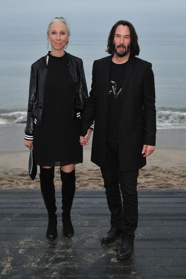 Keanu Reeves and Alexandra Grand.