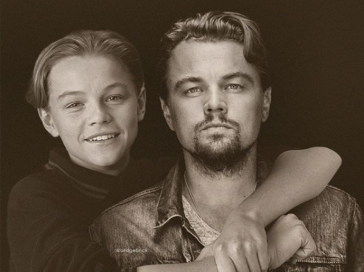 Leonardo DiCaprio: Celebrities With Their Younger Selves