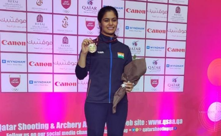 Manu Bhaker Celebrates By Shooting Gold At Asian Championship