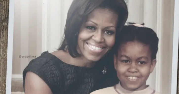 Michelle Obama: Celebrities With Their Younger Selves