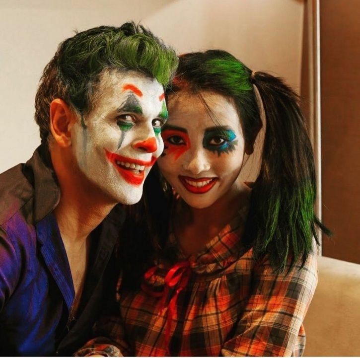 Milind Soman Got Decked Out As Joaquin Phoenix's Joker For Wife Ankit Konwar For Halloween