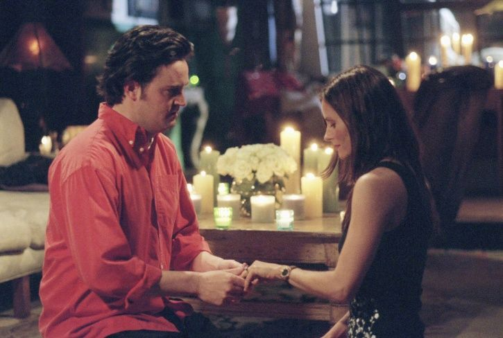 Monica and Chandler in Friends.