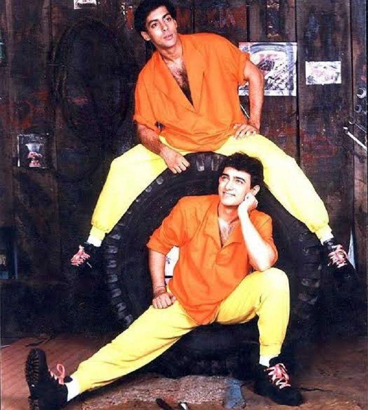 Salman Khan and Aamir Khan in Andaz Apna Apna.
