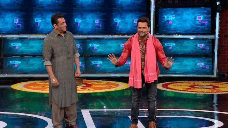 Salman Khana and Khesari Lal Yadav on Bigg Boss 13.