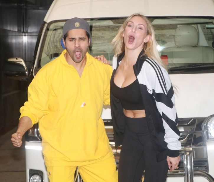 Varun Dhawan Teaches WWE Diva Charlotte Flair Some Bollywood Hook Steps & She Looks Excited!