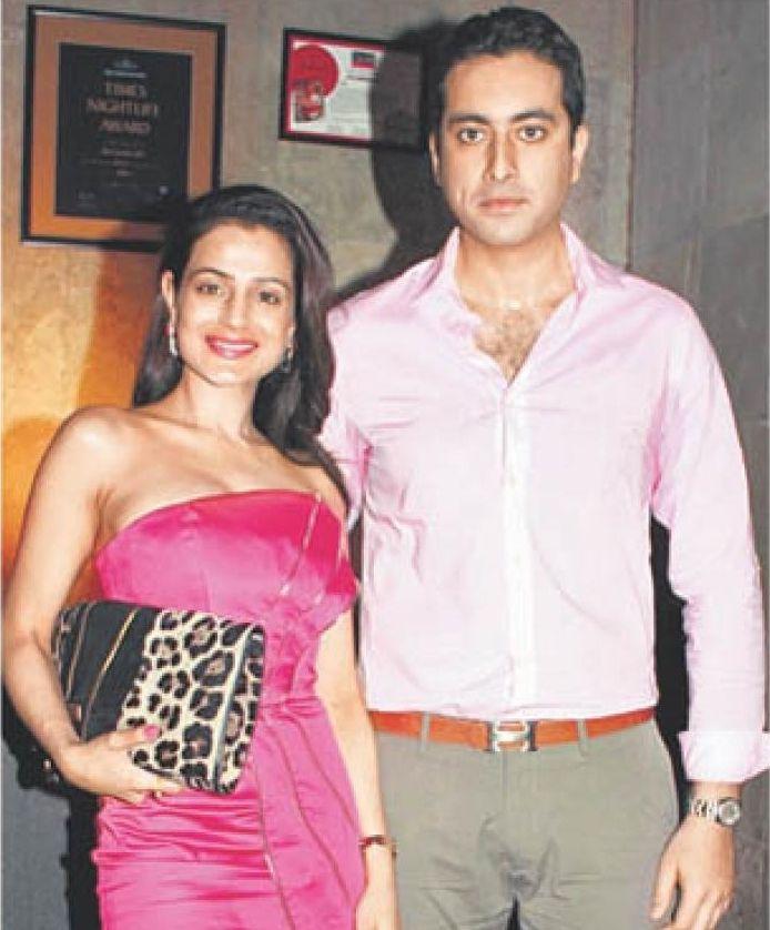 Ameesha Patel with her boyfriend Kanav Puri.